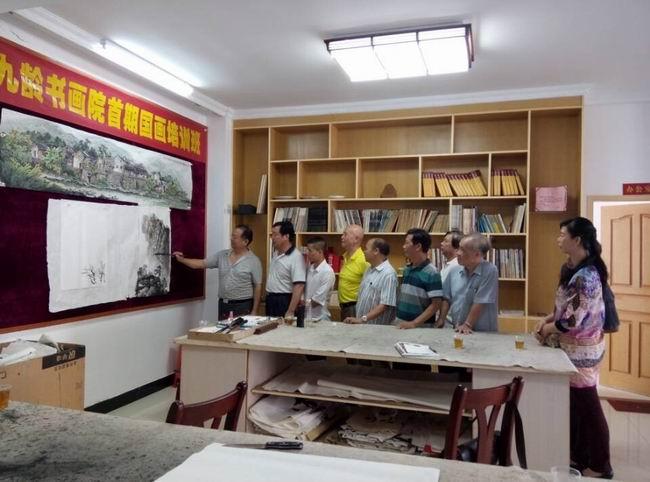 九龄书画院首期国画培训班活动