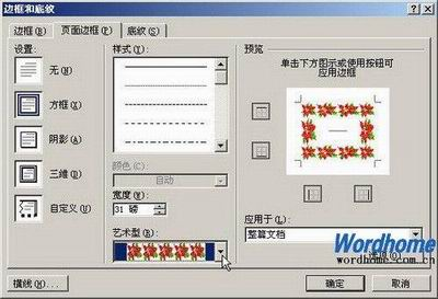 Word2007-页面边框的设置